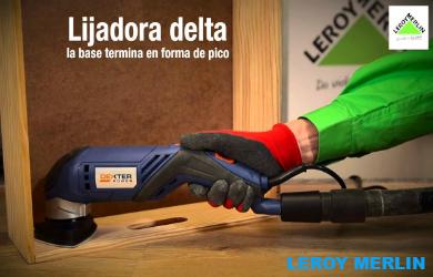 LIjadora Leroy Merlin en modelos y marcas como Orbita, Neumática, De banda, Jirfa, Bosch. Makta, Dewalt, Black and Decker